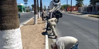 Advierte DOSPM por reparaciones en camellones de la calle 17
