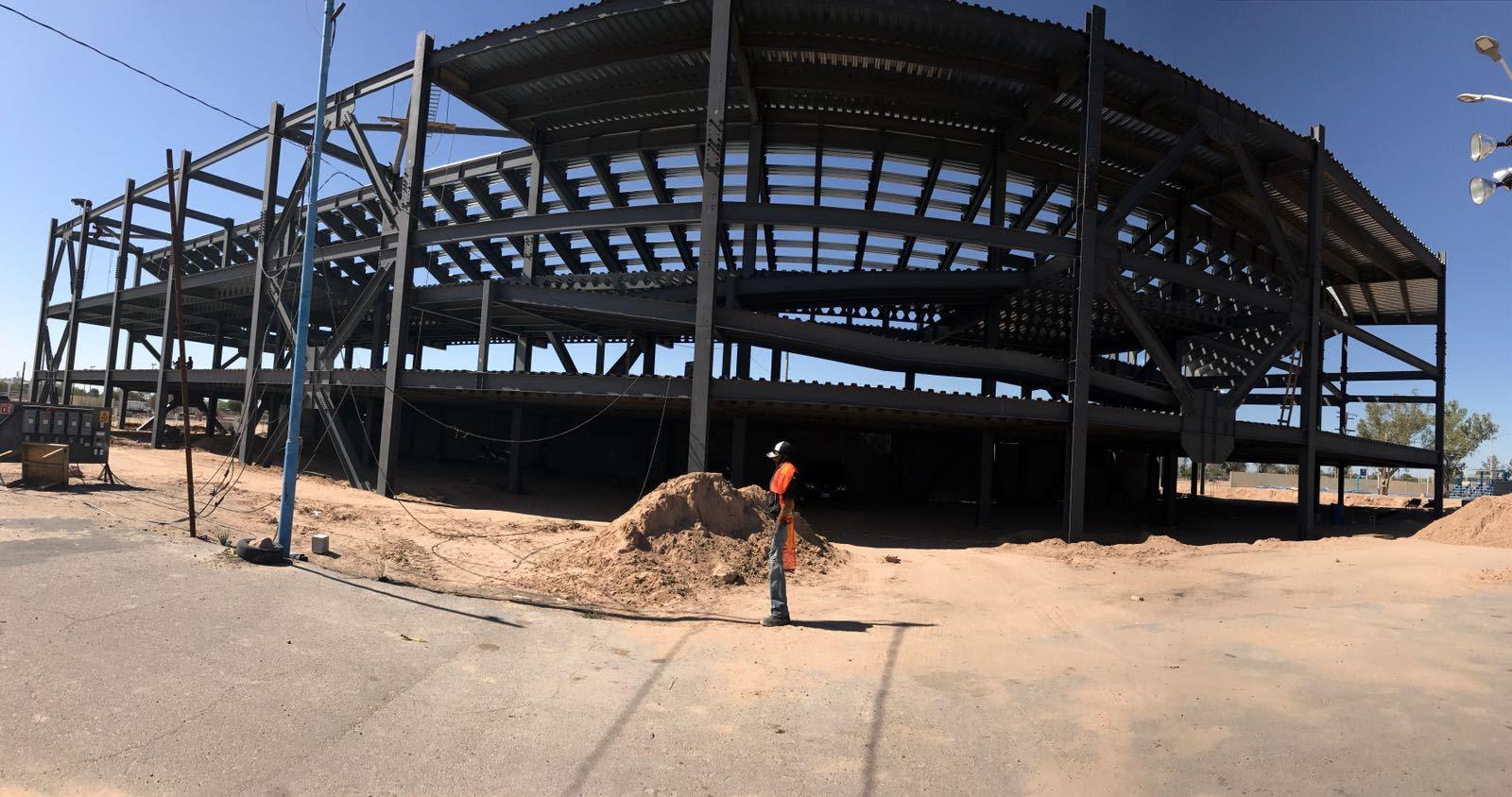 Avance del 40 por ciento en construcción de Estadio de SLRC