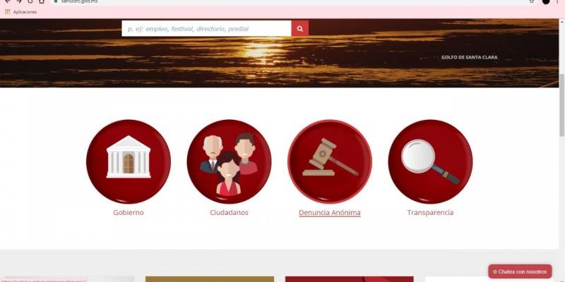 Disponible botón de quejas para denuncias formales