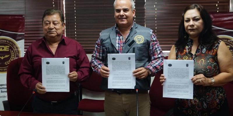 Firman convenio en prevención de delitos electorales