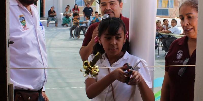 Inauguran biblioteca en primaria del Mesa Rica 1