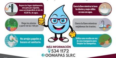 Invita Oomapas a cuidar el agua en temporada de verano