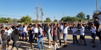 """Simulacro de evacuación escuela primaria """"Francisco Enríquez Amaya"""""""
