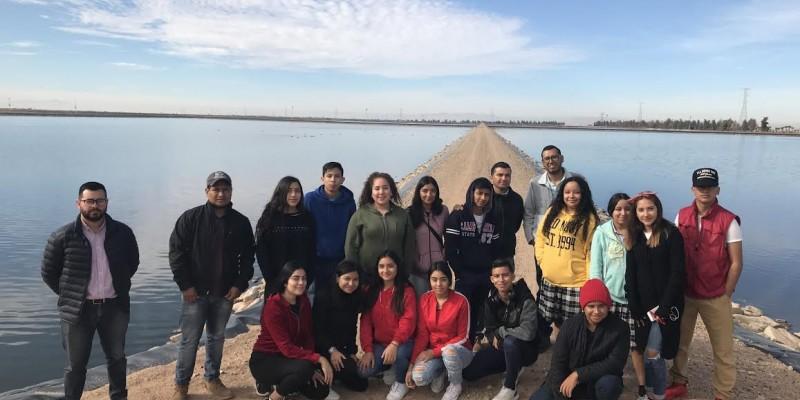 Visitan alumnos de Cetmar Planta Tratadora de Agua
