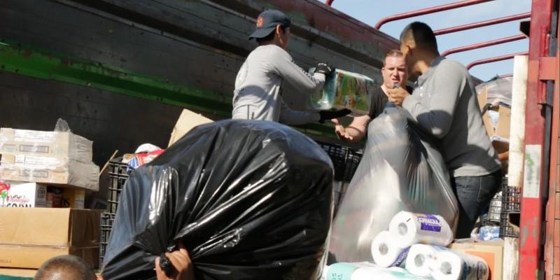 Víveres donados por sanluisinos fueron enviados a Puebla