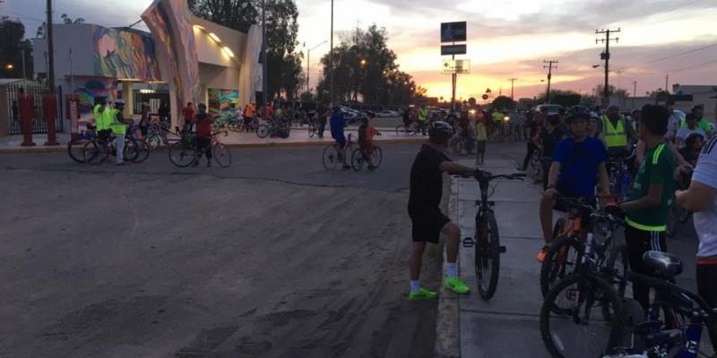 Promueve Dirección de Salud paseos ciclistas